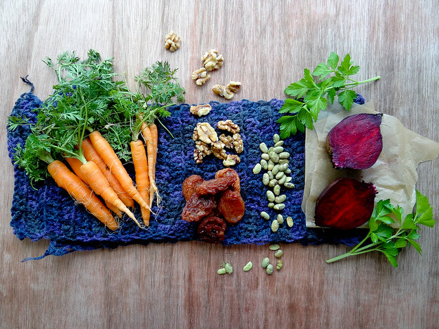 roasted beet + carrot salad // tempeh