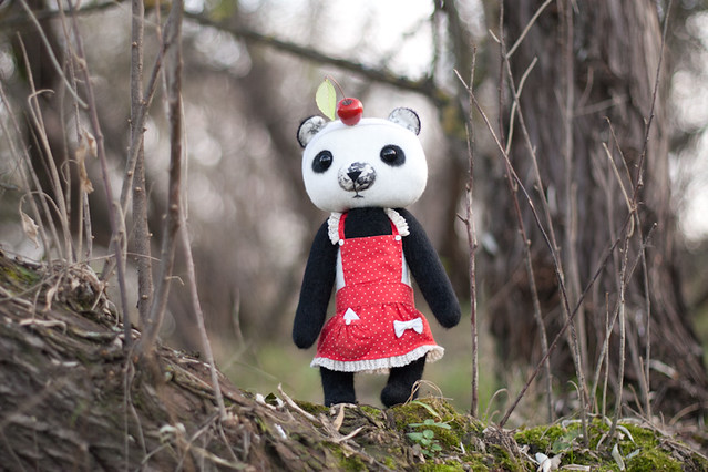 Panda in wood