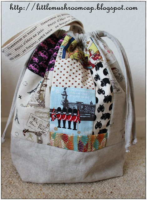 Drawstring Bag With Single Handle - scrappy