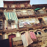 Mediterranean morning, laundry landscape in Porto, #Portugal #flashback