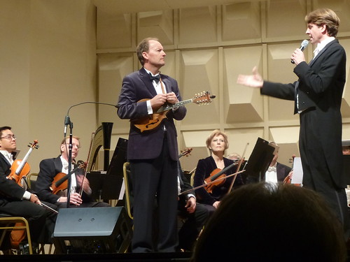 Shreveport Symphony Orchestra: composer-mandolinist Jeff Midkiff with conductor Michael Butterman by trudeau
