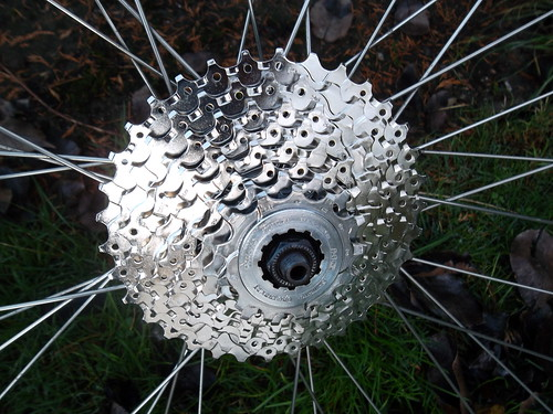 Shimano Hyperglide 9 speed cassette - using 8 sprockets
