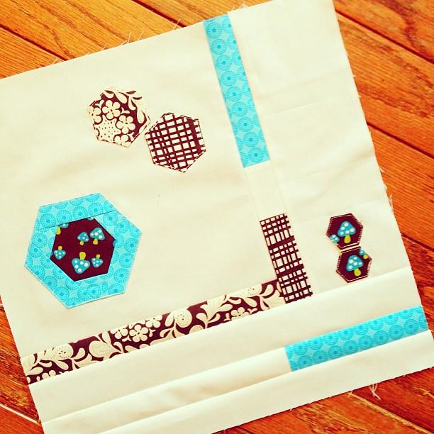 improv + hexi bee block for @genxquilters #finalbeeblockof2012