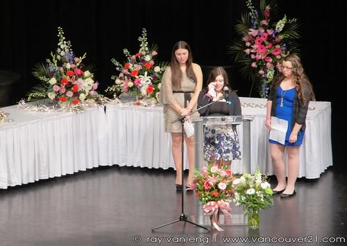 Friends Paid Tribute, Amanda Todd Memorial Service at the Red Robinson Theatre in Coquitlam, BC Canada on Nov 18, 2012