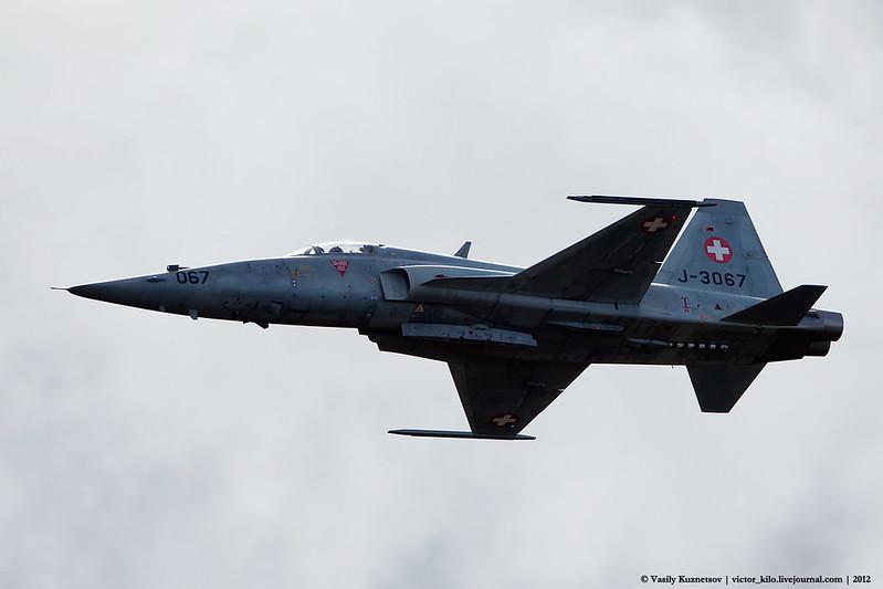 Swiss AF F-5E at Axalp 2012