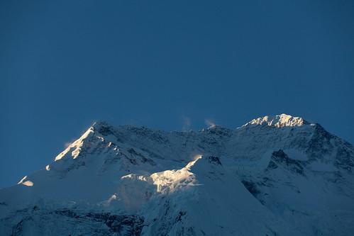 nepal mountain montagne sunrise trek geotagged himalaya montaña annapurnacircuit npl annapurnaii ghyaru pashchimanchal geo:lat=2864121667 geo:lon=8413761667