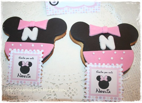 Kit Imprimible Minnie Tarjetas agradecimiento. Merbo Events