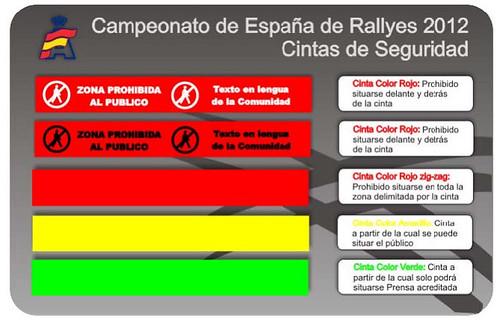 Código de cintas de seguridad general Rallye