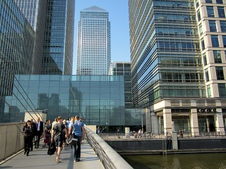 Canary Wharf from South Quay Footbridge