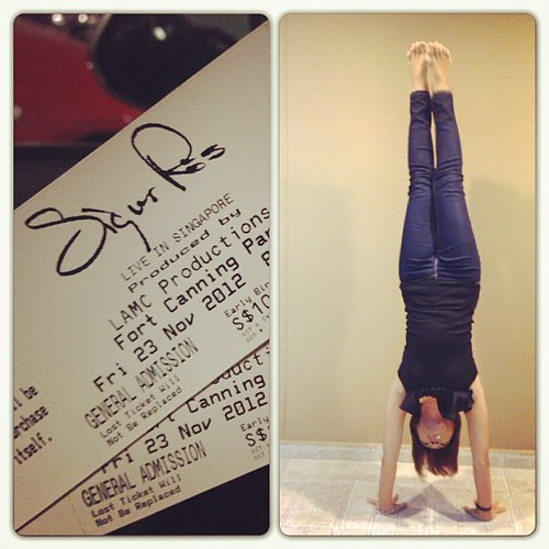 gearing up for an awesome evening...! #sigurros #handstand