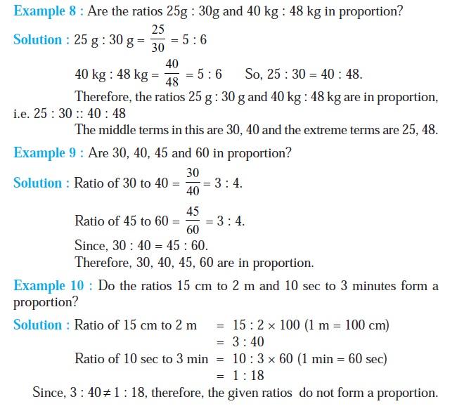 NCERT Class VI Mathematics Chapter 12 Ratio and Proportion | AglaSem ...