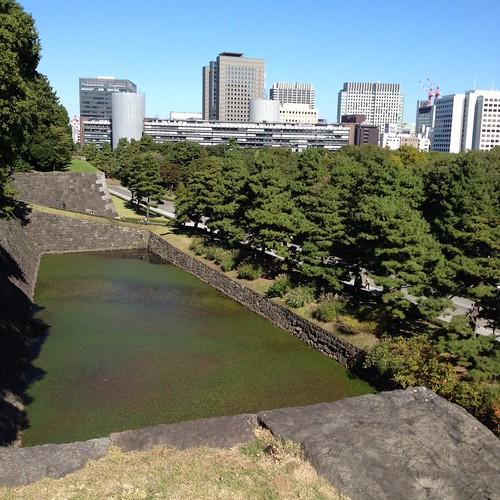 皇居東御苑の展望台から見える景色 by haruhiko_iyota