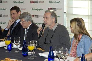 Fernando Trueba interviene en la firma del acuerdo entre Egeda y El Corte Inglés.