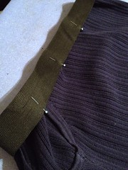 Navy Vest to Skirt - In Progress