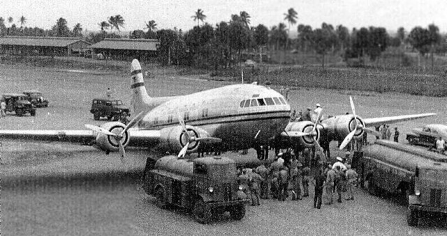 Boeing 307 Stratoliner. Losey Army Airfield, Potala Pastillo