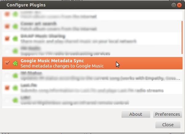 GMusic Sync plugin