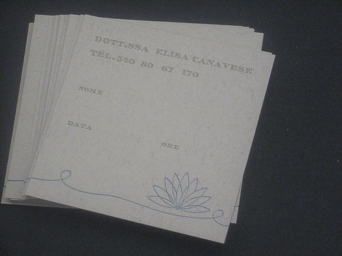 Elisa's appointment cards
