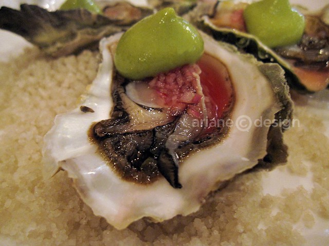 Wines of Portugal Seminar/Gem oyster, sorrel foam, pickled shallot