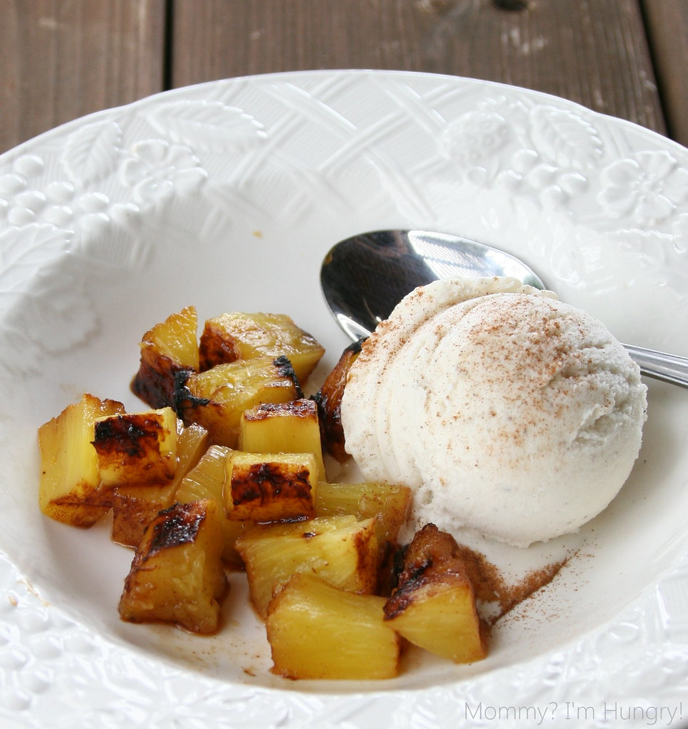 ginger grilled pineapple & ice cream