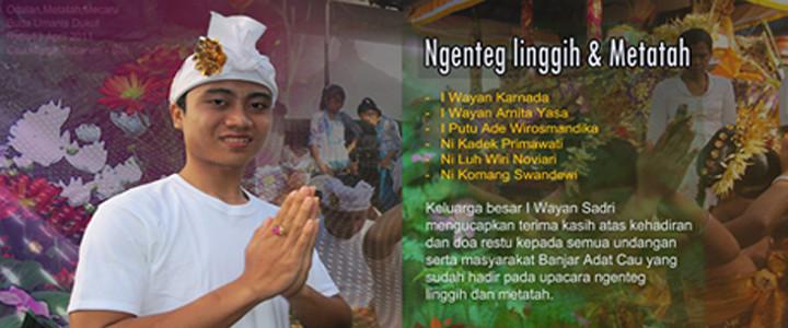 Upacara Metatah Wayanyasa berjalan sukses, Klik foto ini untuk membaca selanjutnya...
