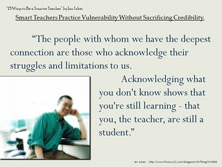 "Powerpoint Slide:  ""Acknowledge that you are still learning, that you are still a student..."""