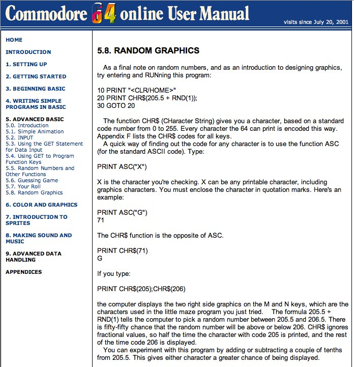 Commodore 64 Online User Manual