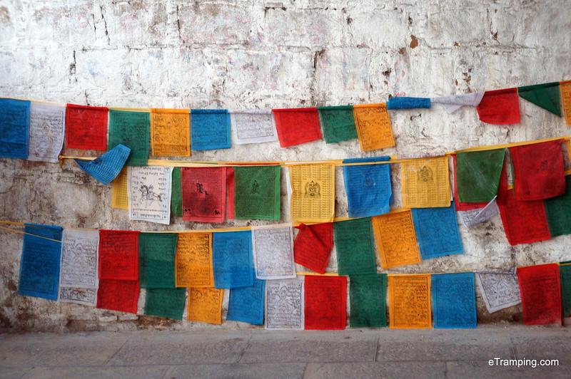 Prayer flags in Lhasa, Tibet
