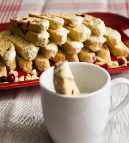 Cranberry Almond Chocolate Biscotti Dipped In Dove Chocolate Recipe ...