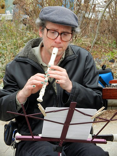 Musician at the Waverly Farmers' Market (playing Christmas Music)