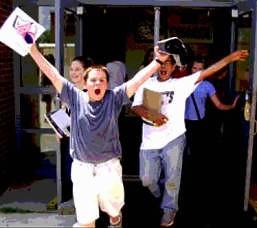 在学校的最后一天