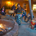 12-056 -- African Drumming by Firelight at the Memorial Center Cabana was part of African Culture Week.