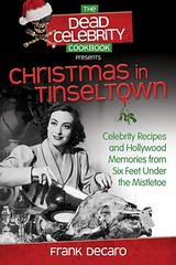 cover of dead celebrity cookbook in black and white showing a woman cutting a turkey
