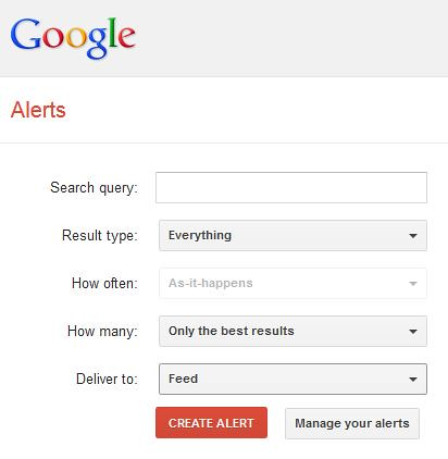 Google Alerts for Guest post
