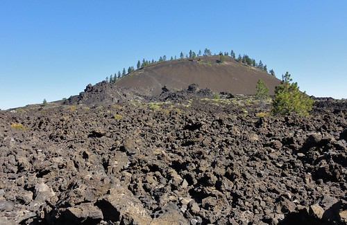 Lava Butte, Oregon, and its associated lava flow.