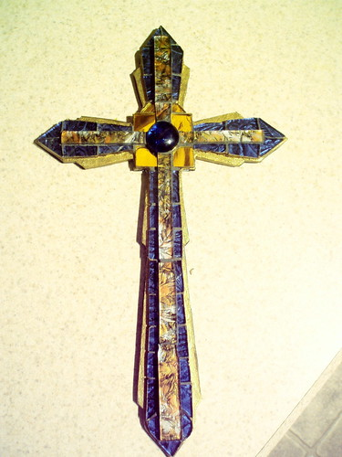 blue and gold cross