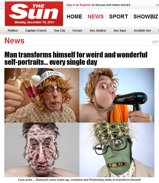 OOOh... Mr Flibble is in The Sun newspaper!