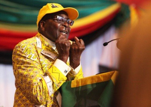 Republic of Zimbabwe President Robert Mugabe addresses 13th National People's Conference of the ruling ZANU-PF. Mugabe and the party are preparing for national elections during 2013. by Pan-African News Wire File Photos