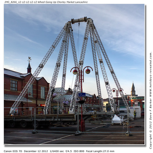 IMG_8266 12-12-12-12-12-12 Secs, Big Wheel Being Erected On Chorley Cattle Market Lancashire