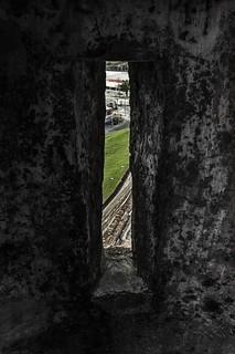Image of Castillo San Felipe de Barajas near Cartagena. wall colombia manga bolívar sliver caribbean fortress cartagena col slit cartagenadeindias sanfelipebarajascastle castillodesanbarajas nellumazilu