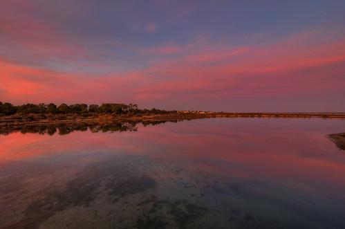 sunset red 6 seascape reflection portugal algarve riaformosa 257 quintademarim tokina1224dxii nikond5100 ilobsterit