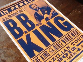 B.B. King letterpress poster