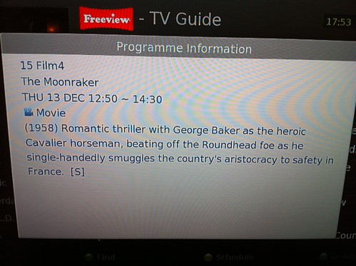 Unfortunate choice of words, onscreen guide. #ShouldHaveTweetedThisACoupleOfDaysAgo by benparkuk
