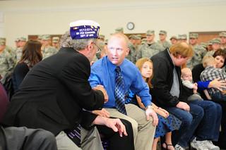Retired Soldier Receives Purple Heart