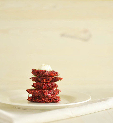 beet latkes with cumin