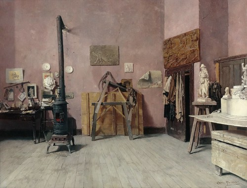 Louis Moeller - Sculptor's Studio [c.1880s] by Gandalf's Gallery