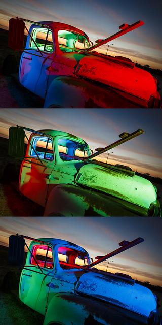 RGB Truck Triptych