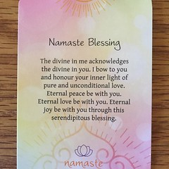 I love this deck of Namasté card. And I send this blessing to you. Namasté. #namastecards:pray: #blessings