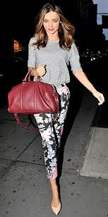 Miranda Kerr Oxblood Trend Celebrity Style Women's Fashion