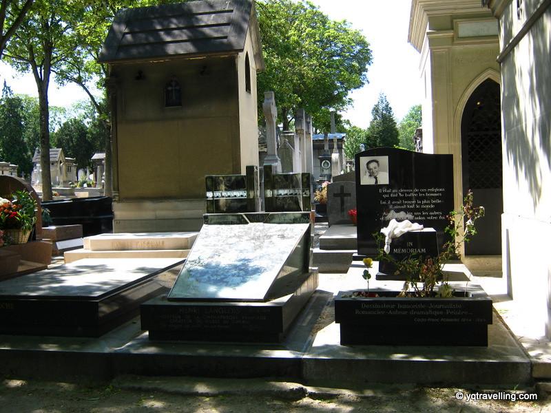 Tombstones at Montparnasse cemetery