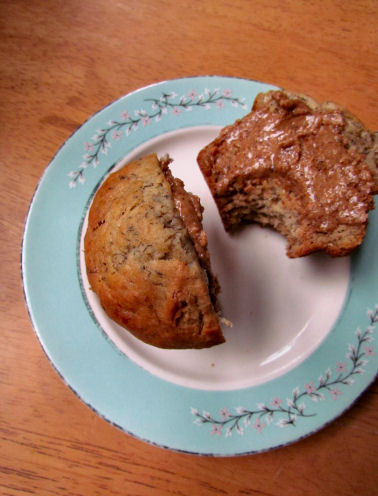Banana Muffin with Almond Butter